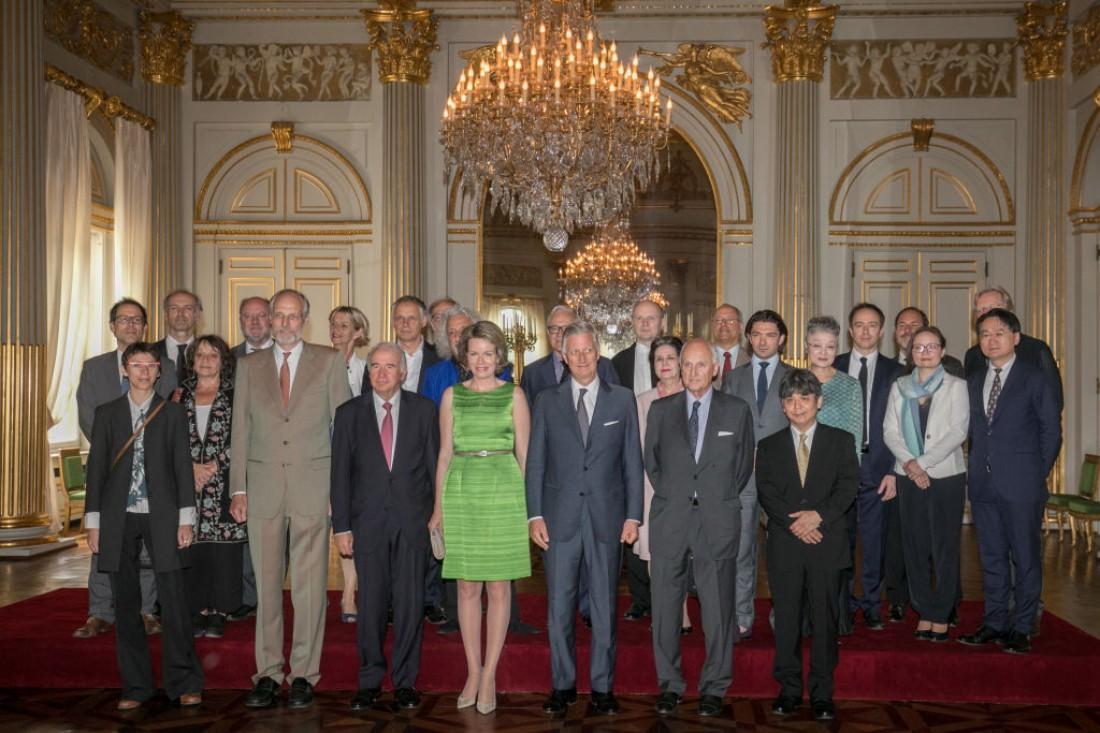 Королева  Матильда и король Филипп на званом обеде в Брюсселе, Бельгия