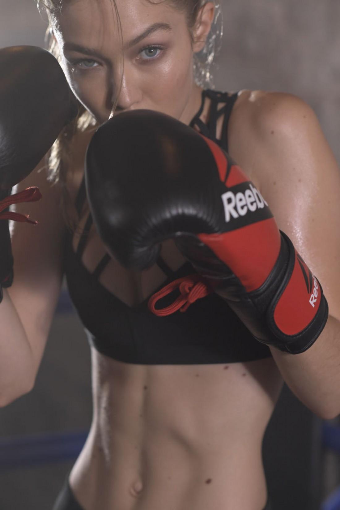 Джиджи Хадид в рекламной кампании Reebok #PerfectNever
