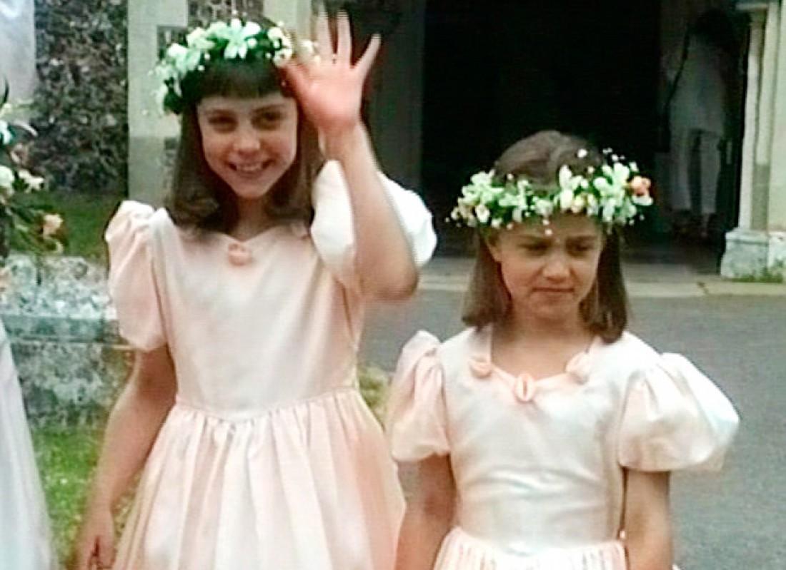 Кейт и Пиппа Миддлтон в детстве