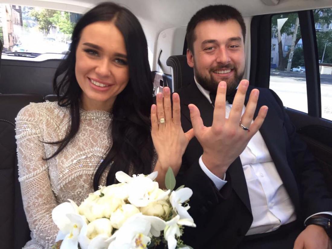 Александр Луценко с женой Настей