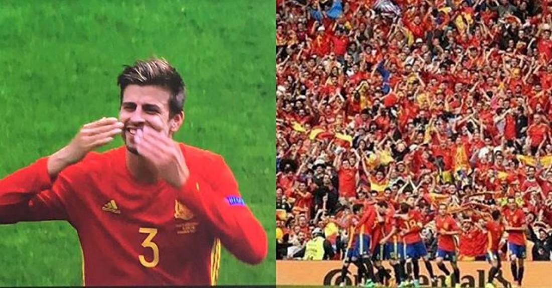 Евро 2016: Жерар Пике забил гол