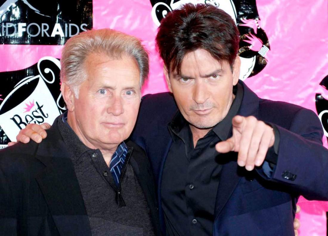 Чарли Шин с отцом Мартином