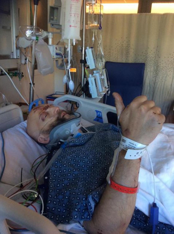 Джим Таваре в больнице