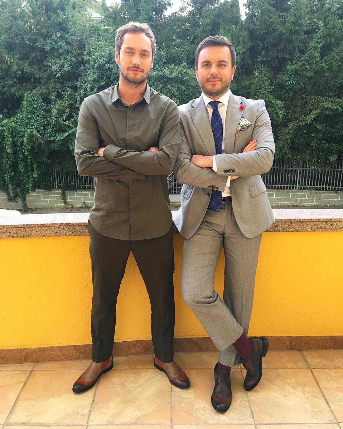 Рожден Ансуи и Григорий Решетник на съемках шоу Холостяк