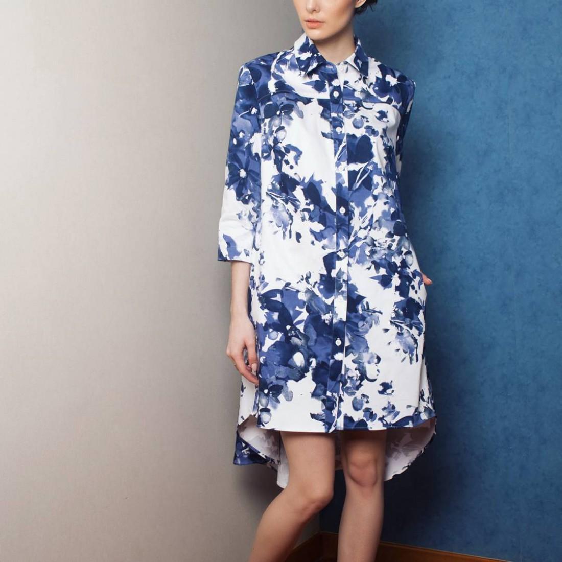 Платье-рубашка от LOSK atelier