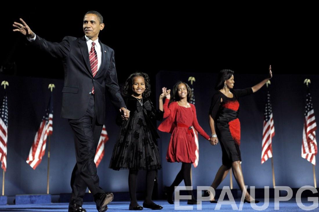 Семья Барака Обамы (2008 год)