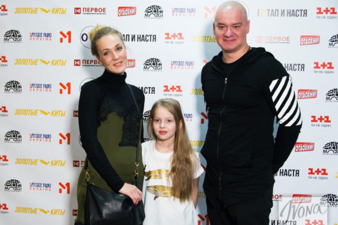 Евгений Кошевой с дочкой и женой