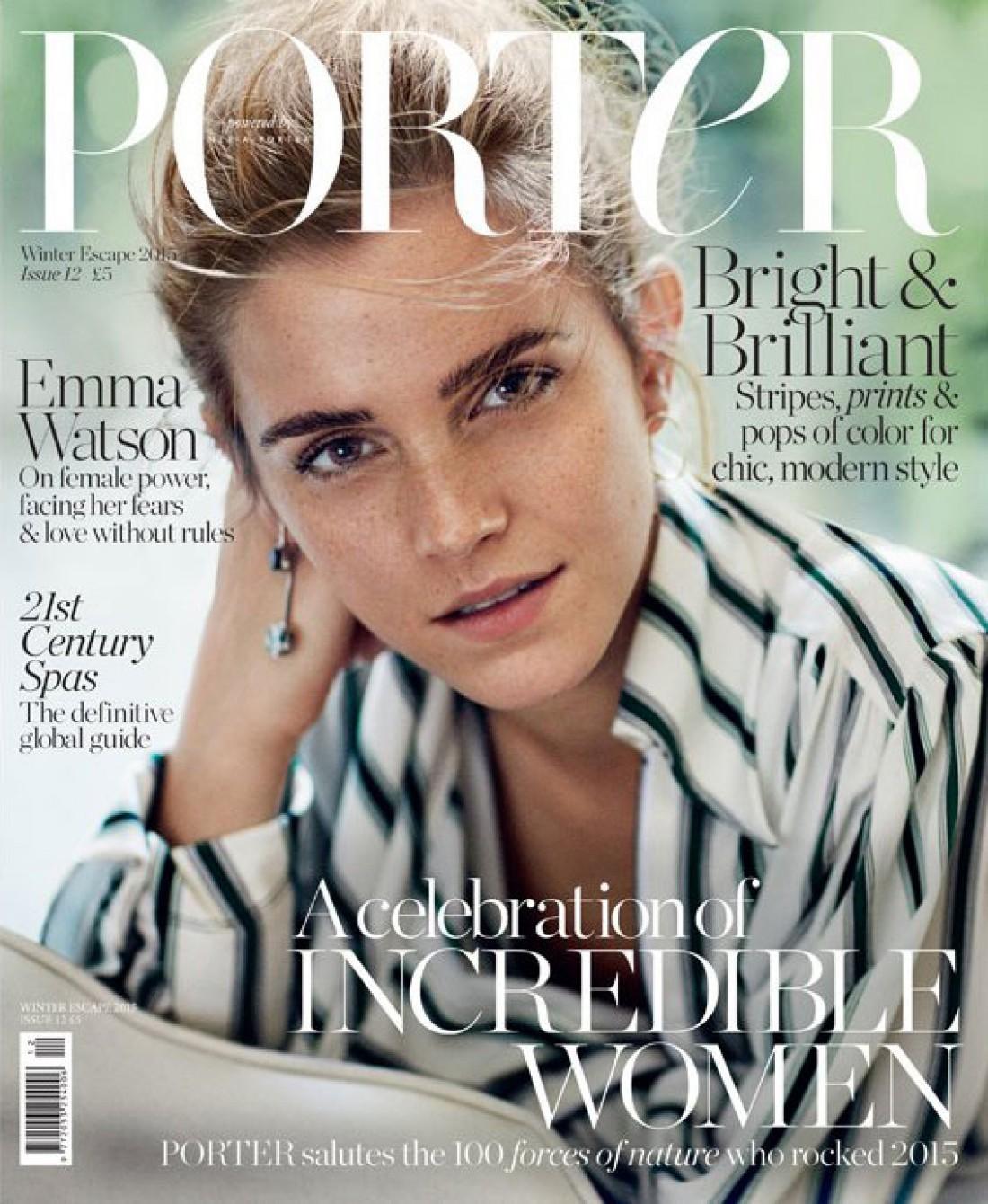 Эмма Уотсон украсила обложку Porter Magazine