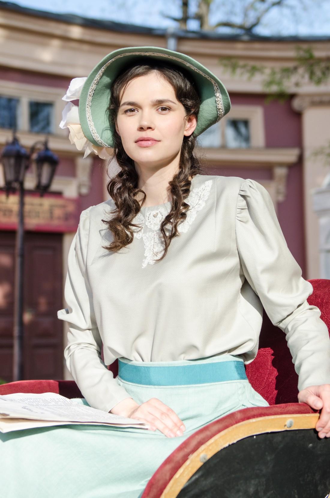 Ольга Виниченко на съемках сериала в Одессе