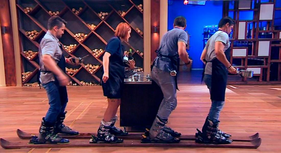 МастерШеф 6 сезон 6 выпуск: черных фартуков пристегнули к лыжам