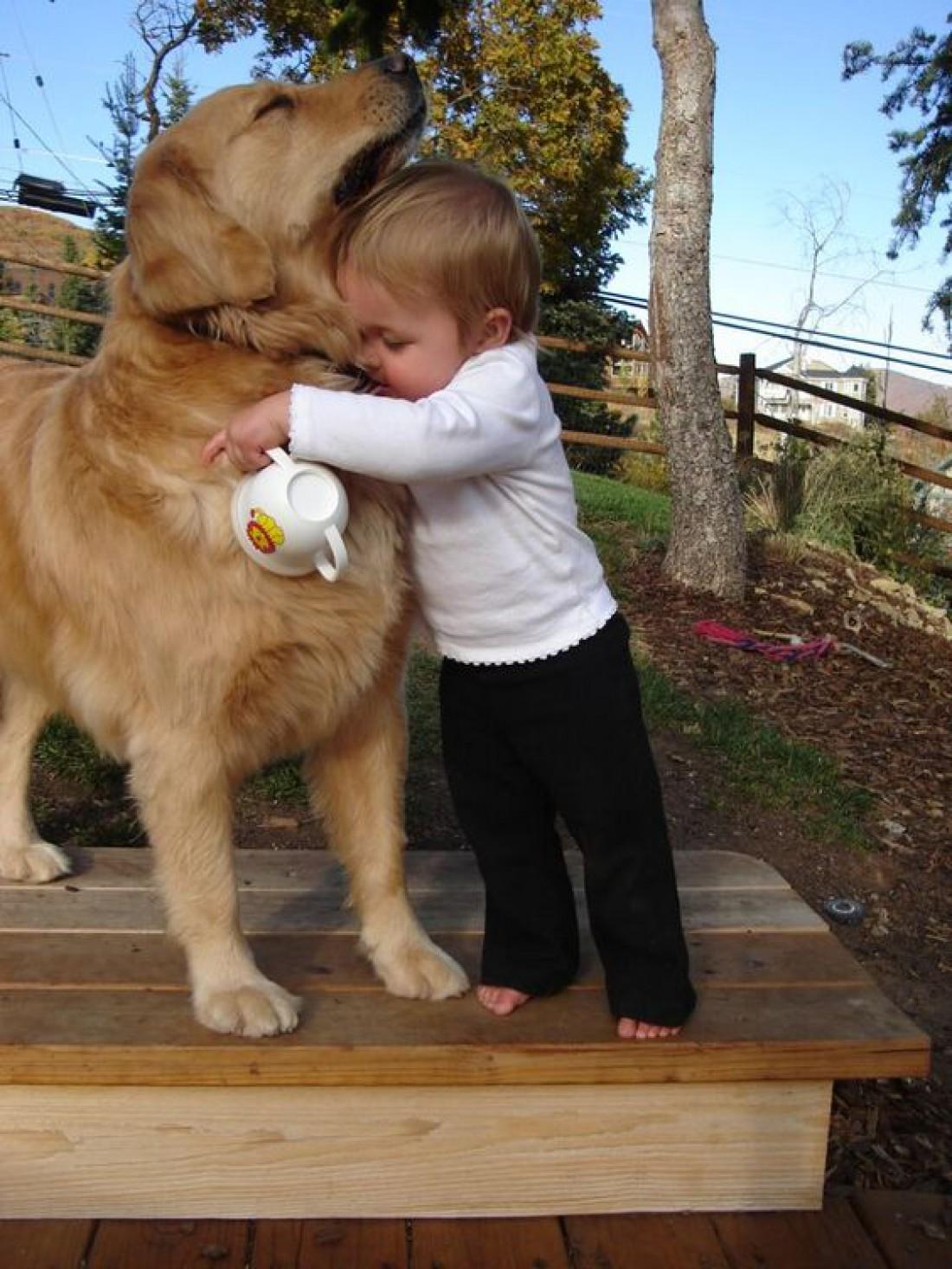 Доказательство того, что собака для ребенка - самый лучший подарок