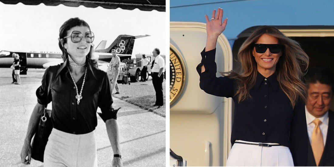 Airport-look Джеки Кеннеди и Меланьи Трамп