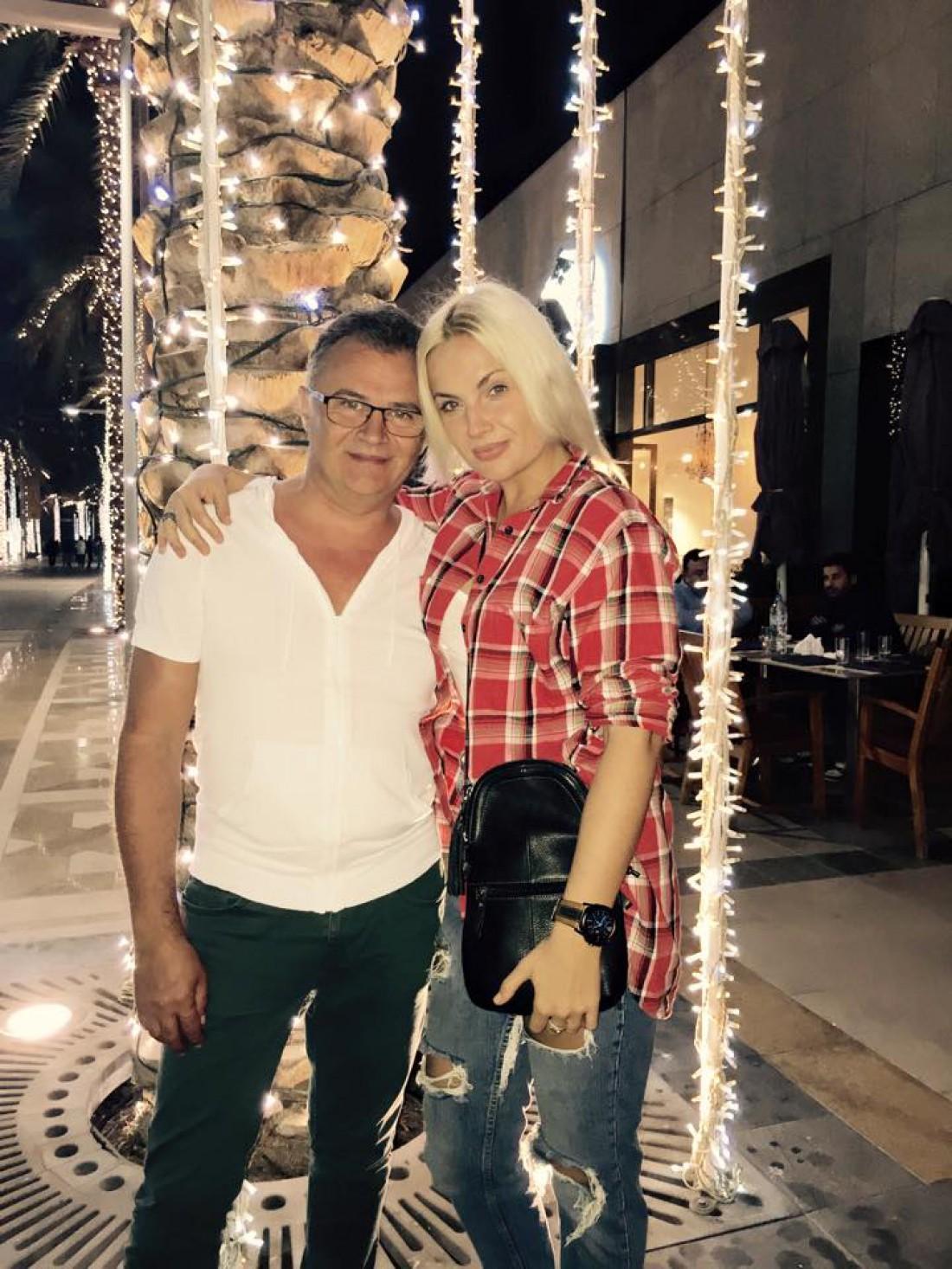 Юрий Фалеса с женой Машей Гойей