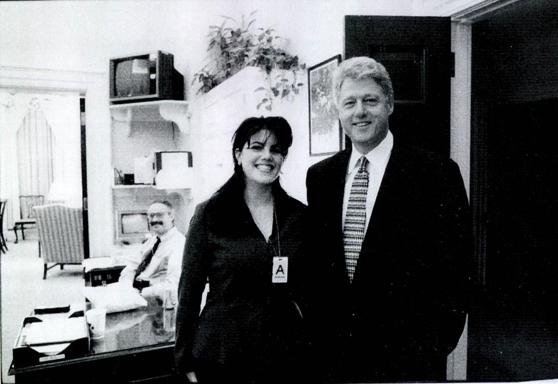 Моника Левински и Билл Клинтон в 90-х