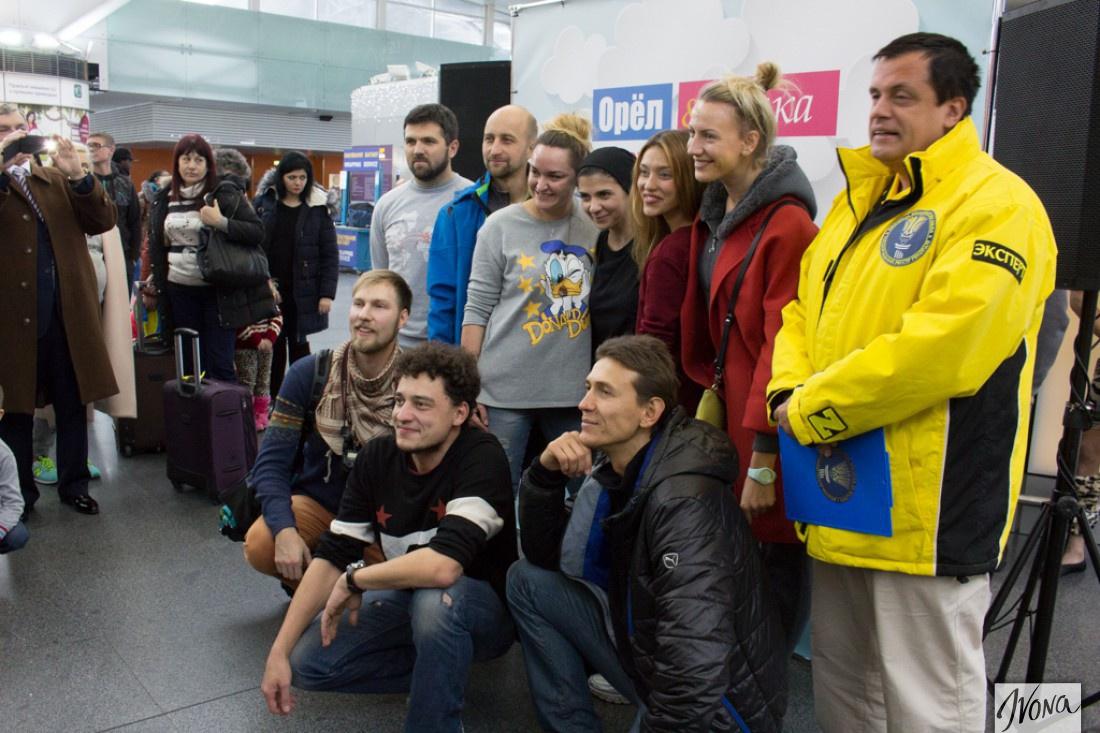 Команда Орел и Решка вместе с экспертом Национального реестра (справа)
