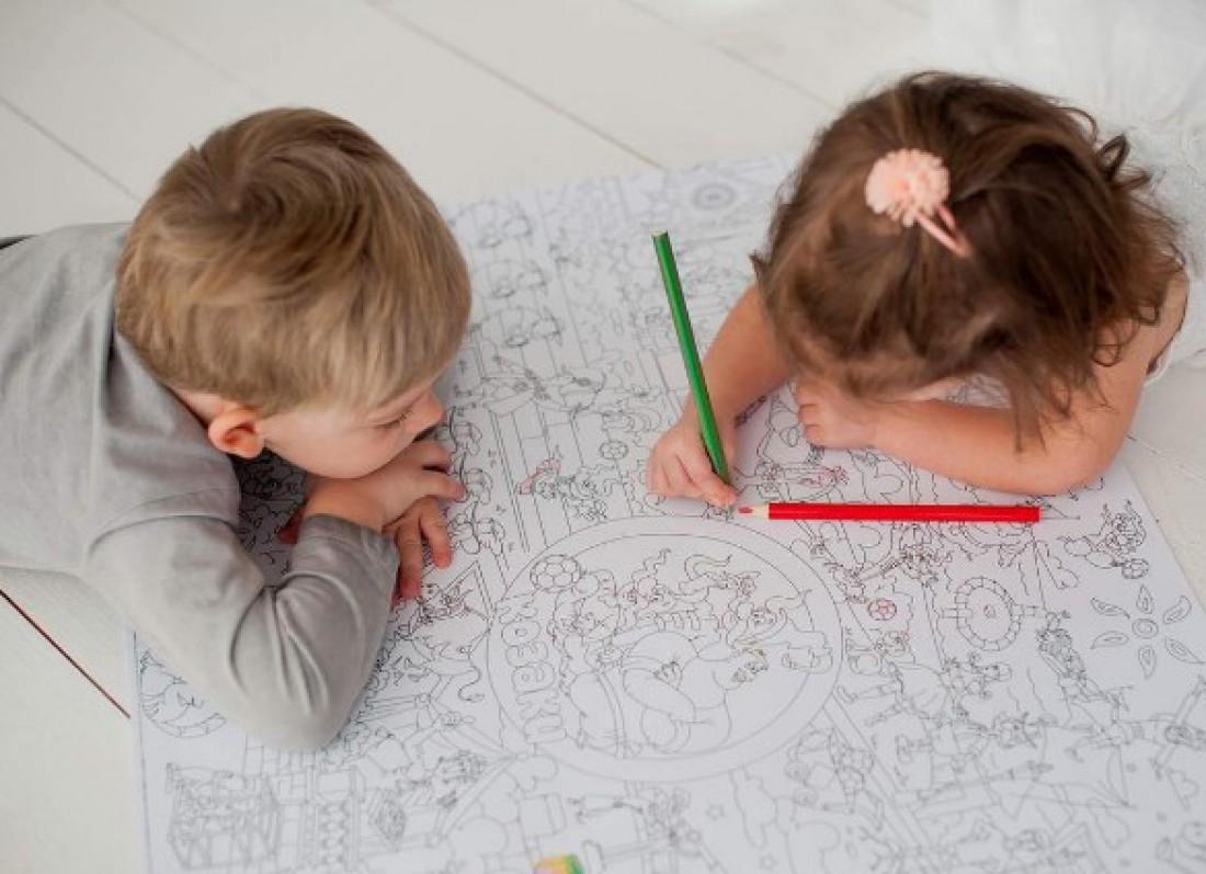 Как развлечь детей: карманная раскраска