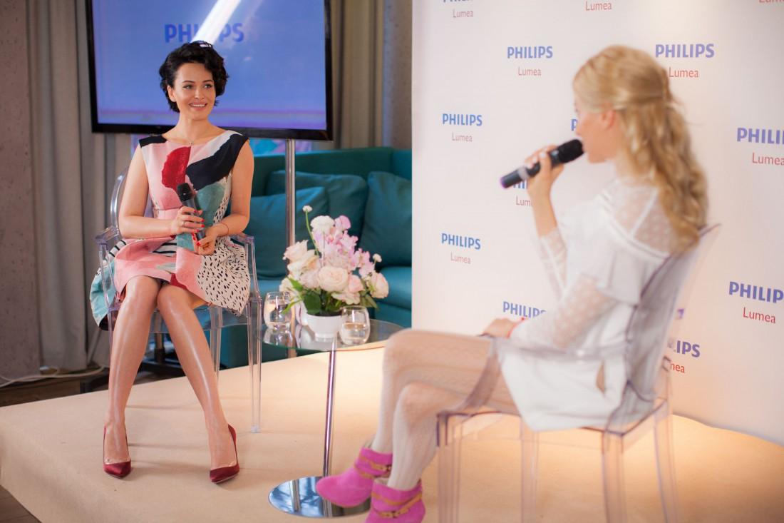 Даша и Ольга во время интервью