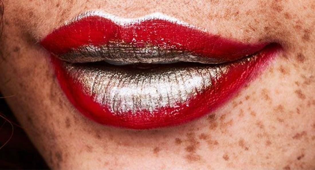 Мейк с платиновыми губами – тренд сезона