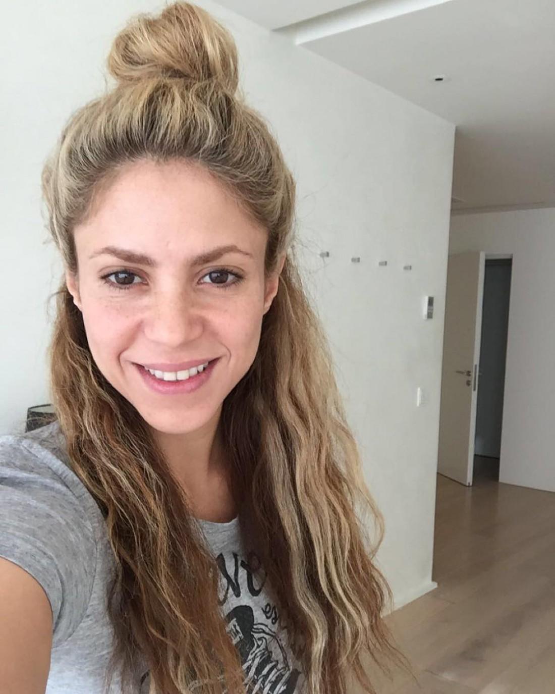 Шакира без макияжа