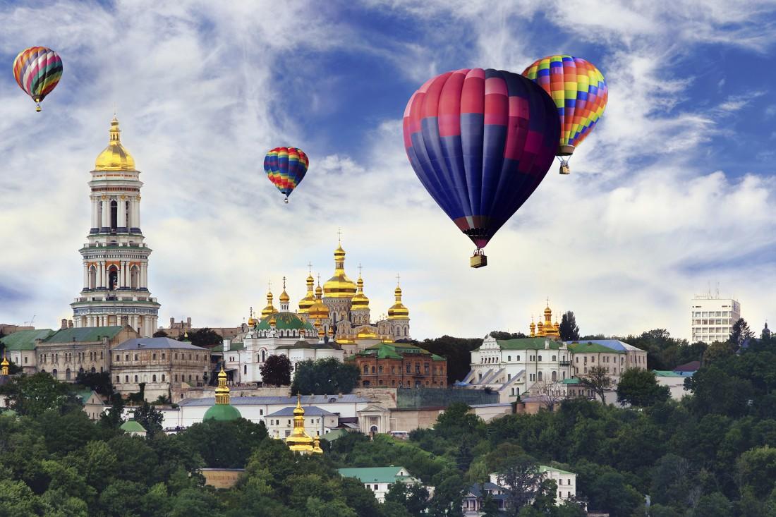 Полет на воздушном шаре в Киеве