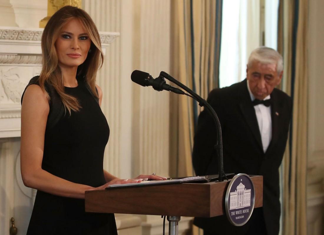 Мелания Трамп на приеме в Белом доме в честь Международного женского дня