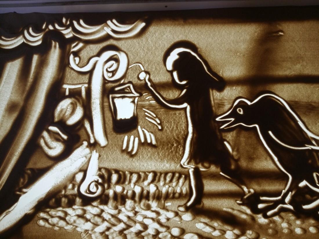 Куда сходить в Киеве: театр песочной анимации Золотой лев