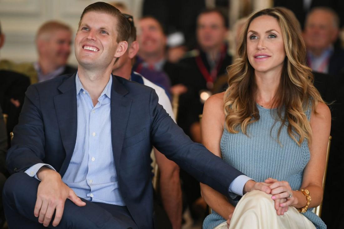 Эрик Трамп с женой Ларой