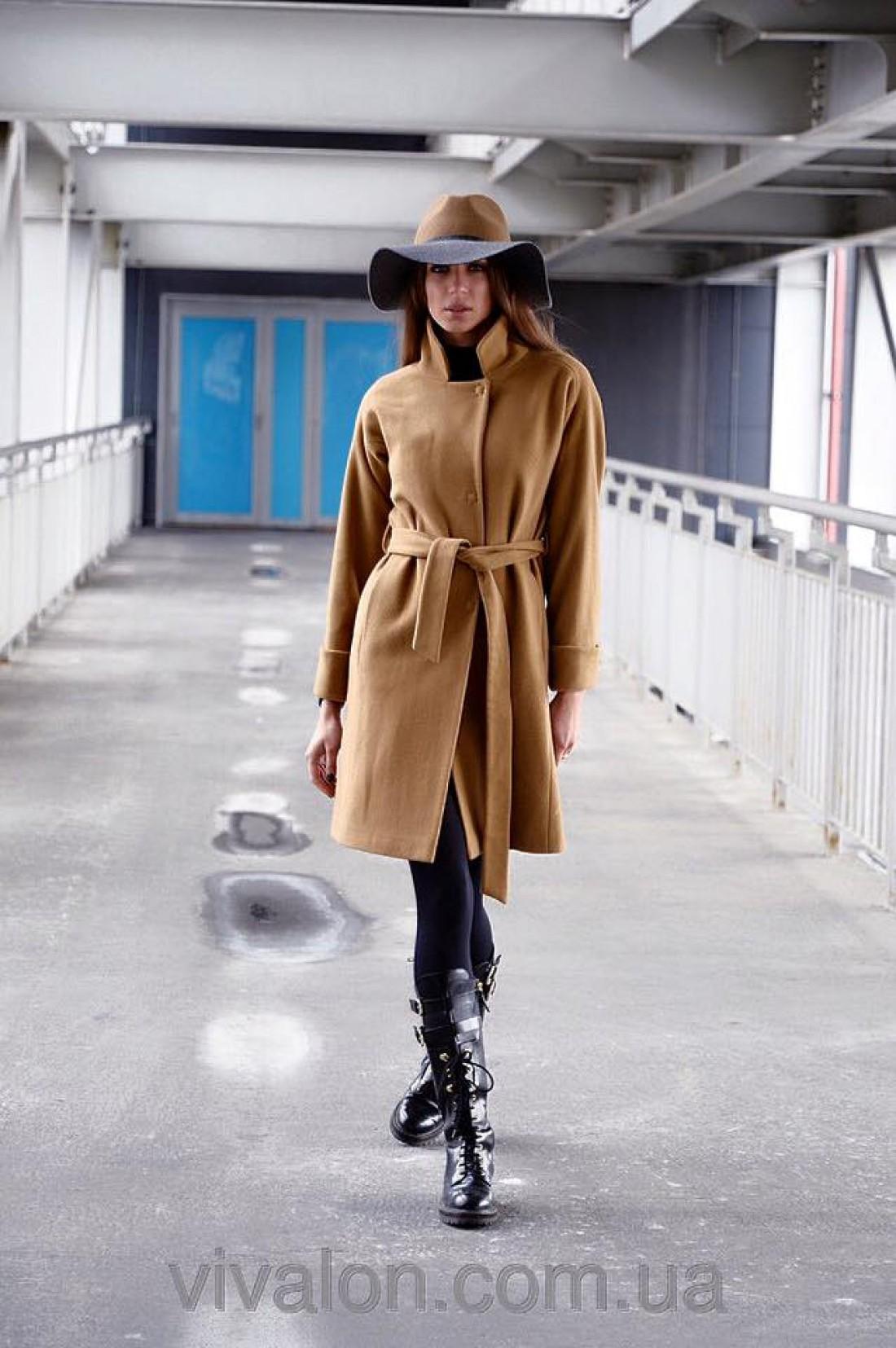 Пальто на пояске