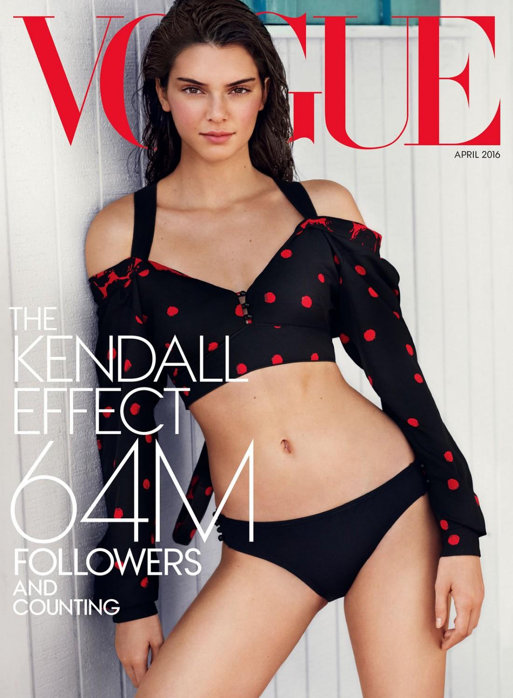 Модель Кендалл Дженнер в свежем выпуске Vogue