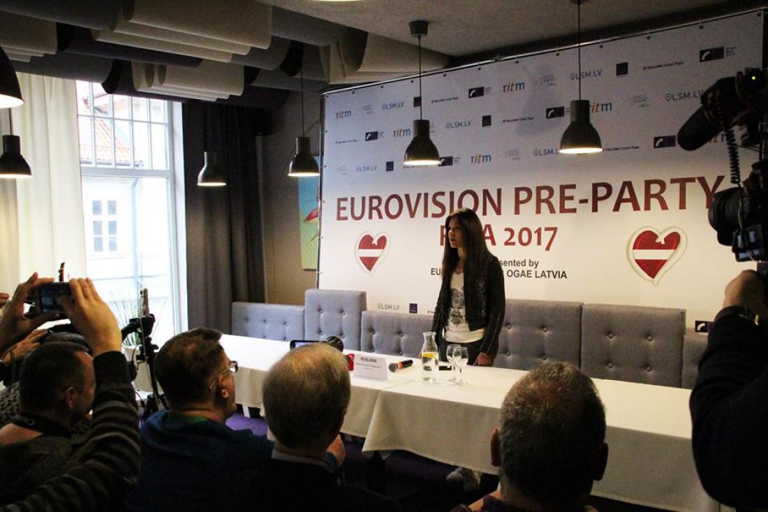 Евровидение 2017: Руслана на пресс-конференции в Риге