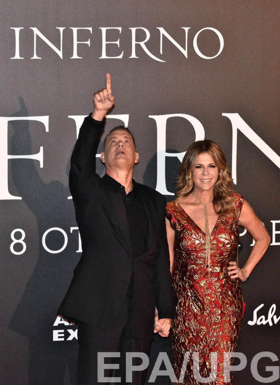 Том Хэнкс и Рита Уилсон во Флоренции
