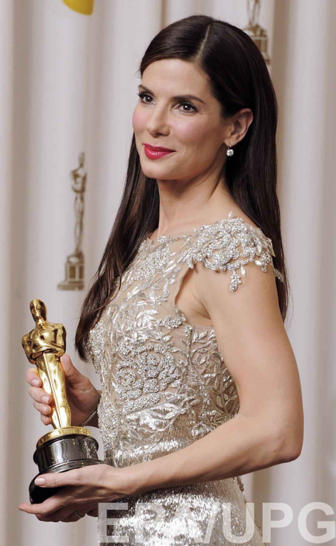 Актриса получила Оскар за роль в фильме Невидимая сторона. 2010 год.