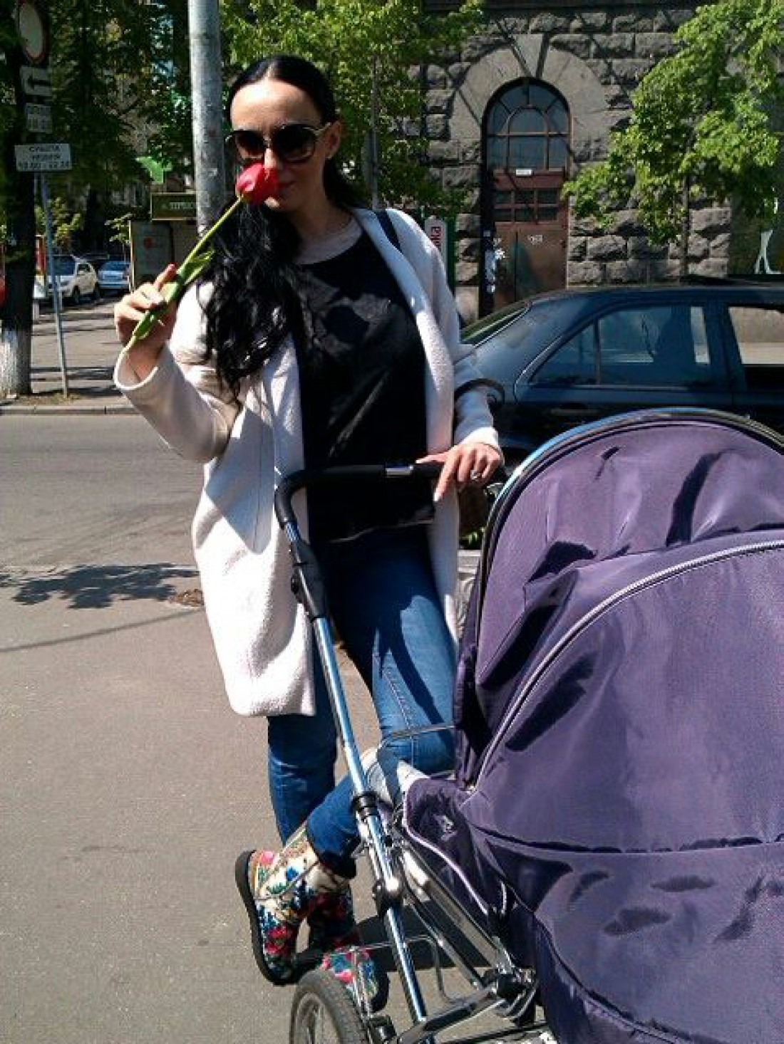 Наталья Ворона с младшим сыном