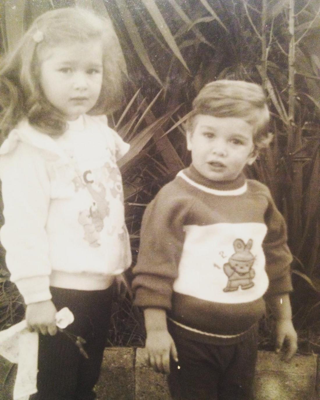 Иракли Макацария с сестрой