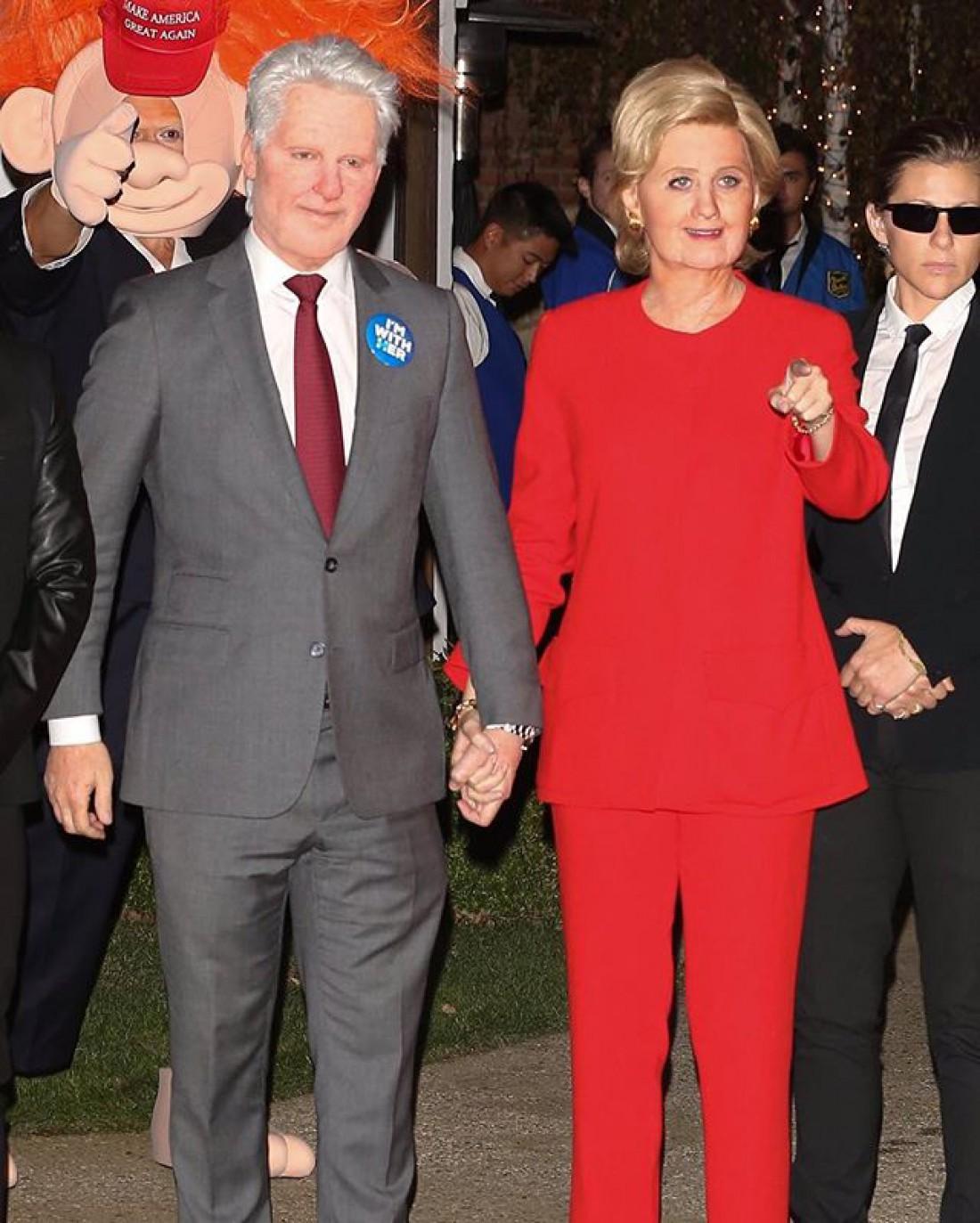 Кэти и Орландо в образе супругов Клинтон
