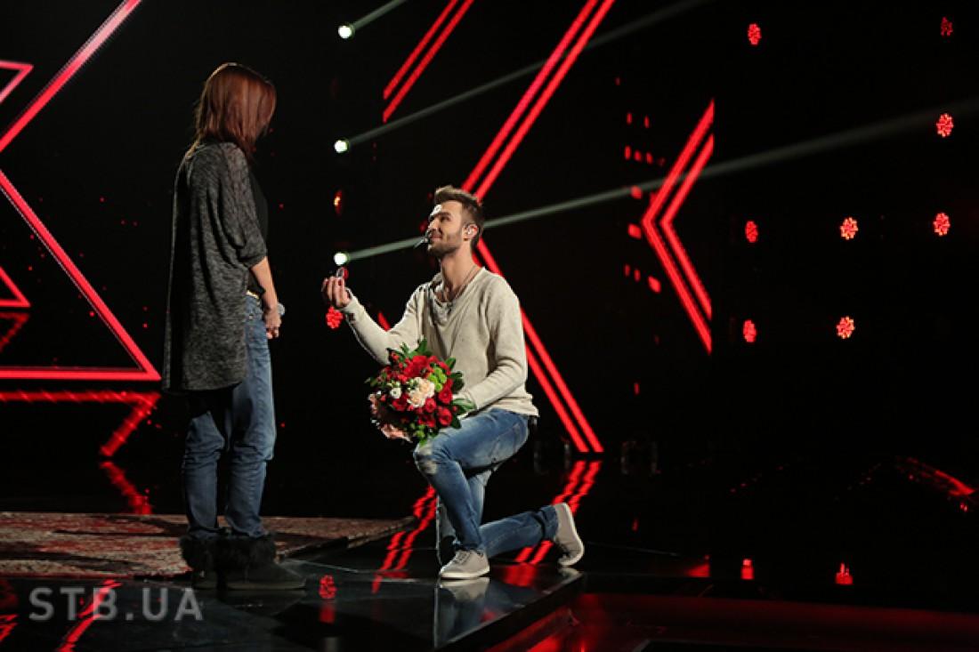 Андрей Инкин сделал предложение руки и сердца своей девушке в прямом эфире Х-фактор 6