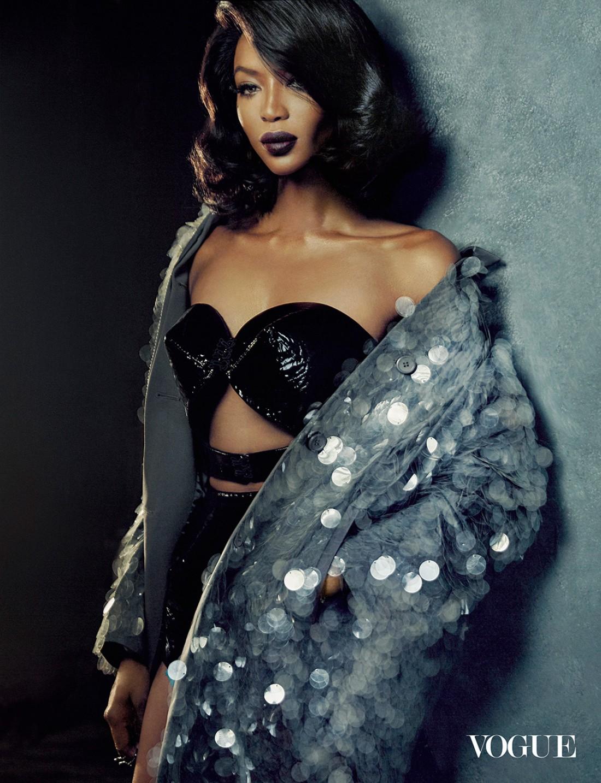 Наоми Кэмпбелл снялась для нового номера Vogue