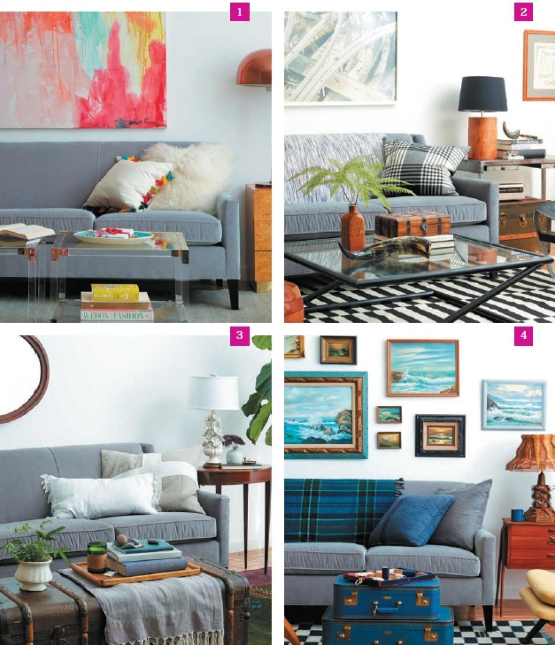 Один диван – четыре стиля