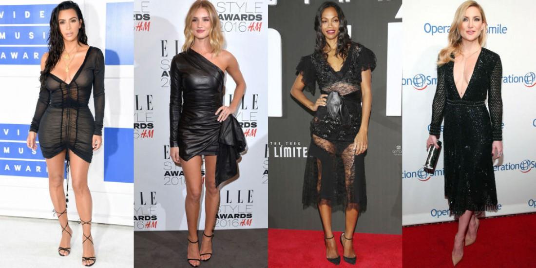 Знаменитости делают ставку на черные платья