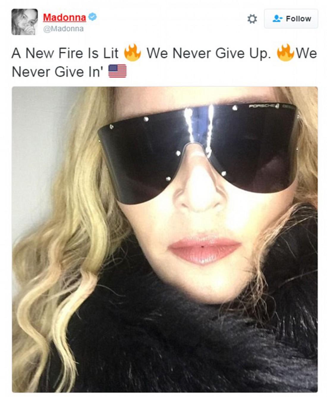 Мадонна: Спалехне новий вогонь. Ми не опускаємо руки, ніколи