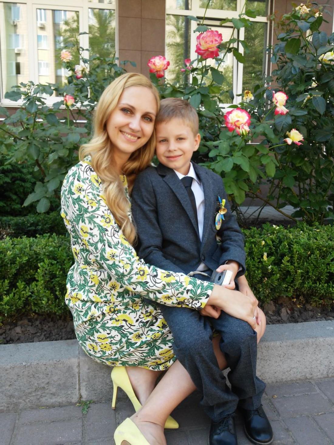 Юлия Бортник с сыном