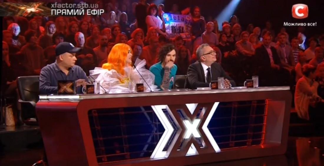 Х-фактор 7 сезон 1 прямой эфир: судейская четверка оценивала выступления участников