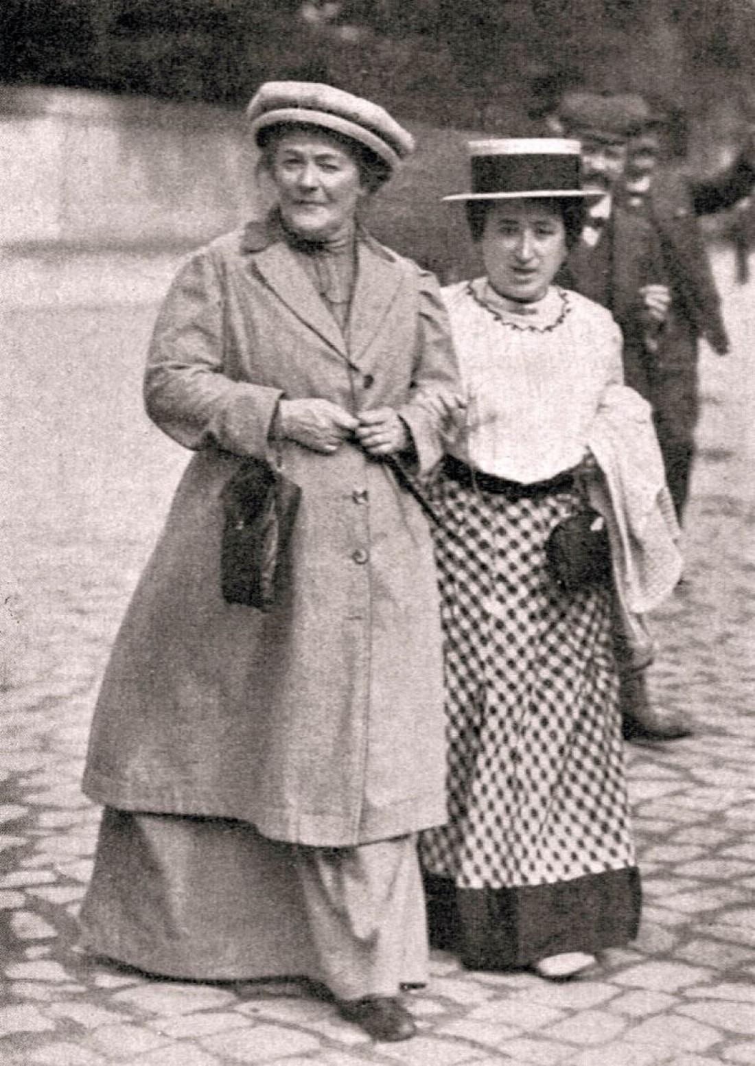 Клара Цеткин и Роза Люксембург