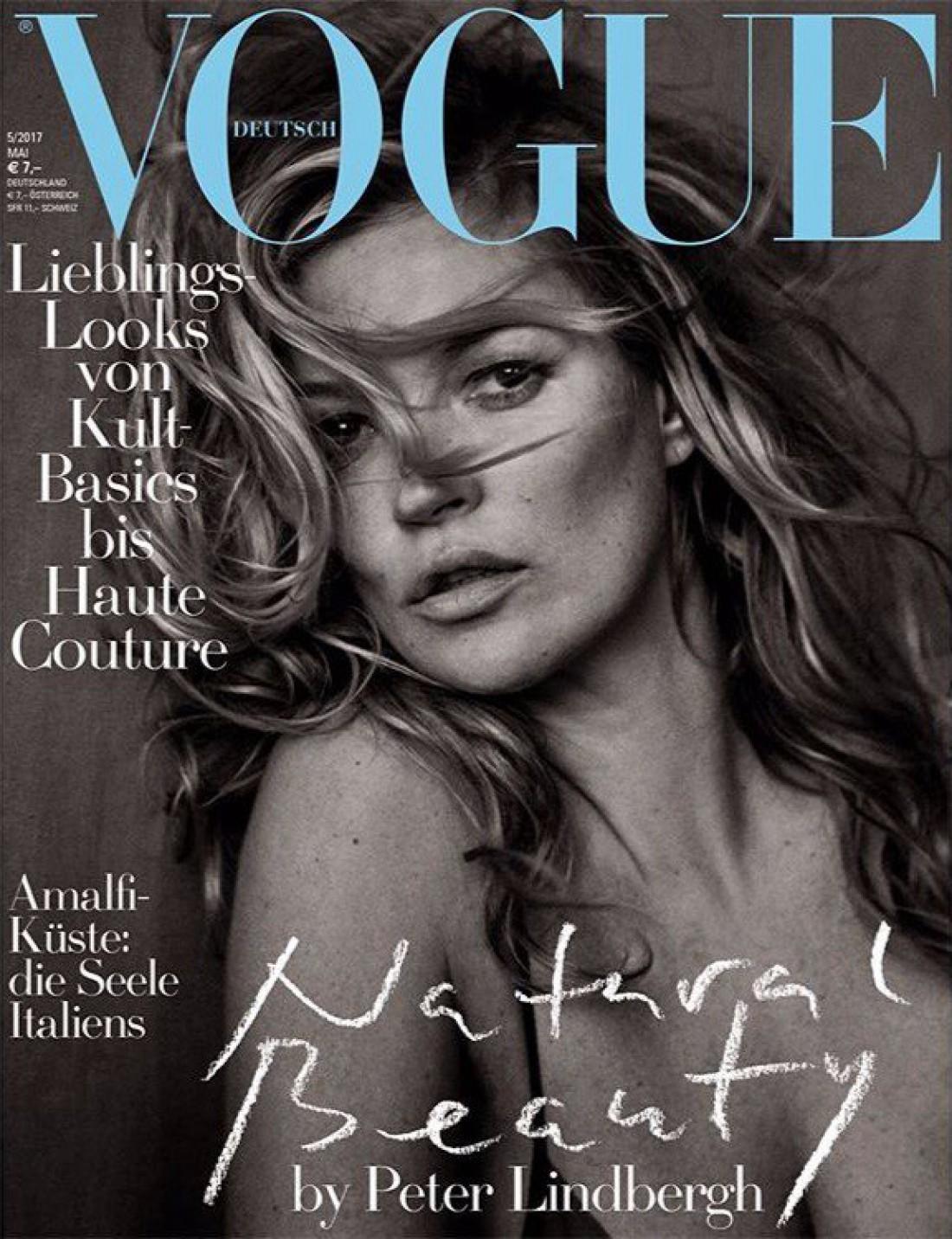 Кейт Мосс на обложке Vogue Germany