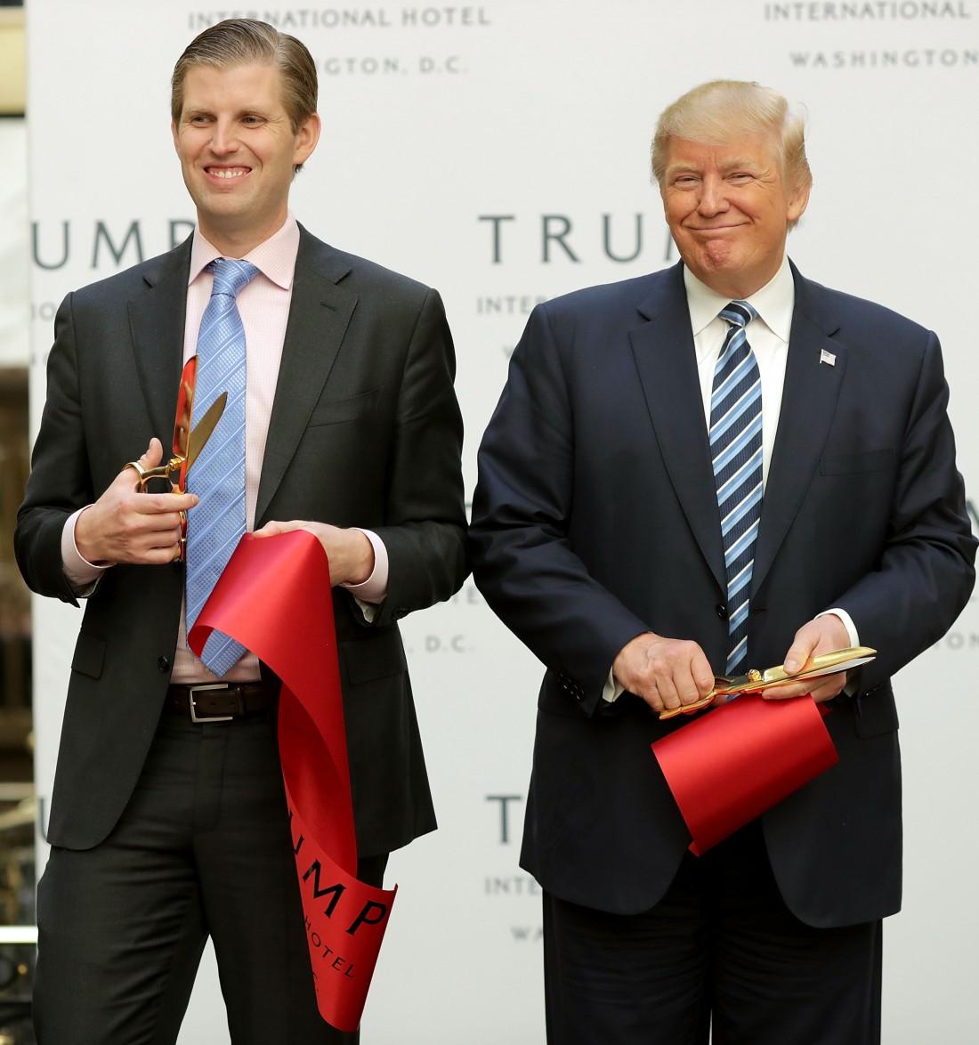Эрик и Дональд Трамп