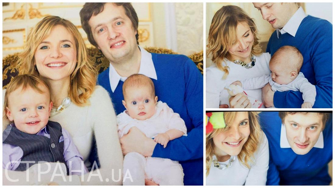 Алексей Порошенко с женой Юлей и детьми Петей и Лизой