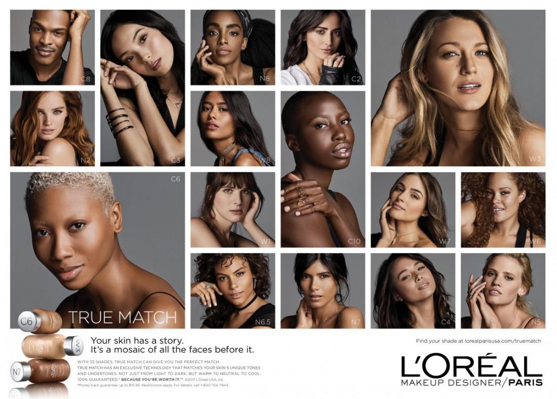 L'Oréal Paris поддержал людей с разными цветом кожи, размером и сексуальной ориентацией