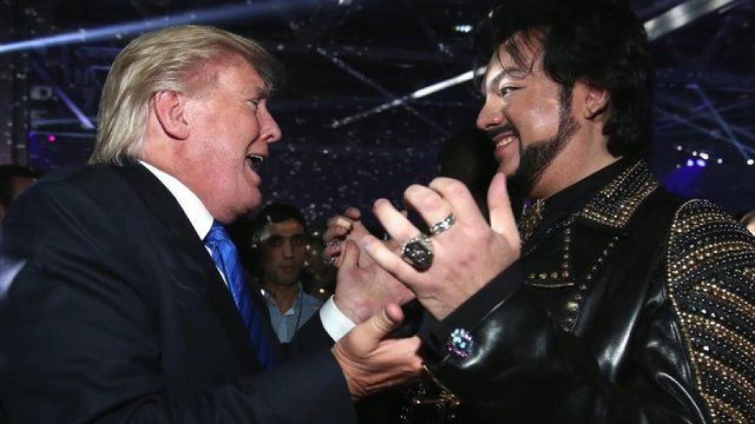 Дональд Трамп и Филипп Киркоров (справа)