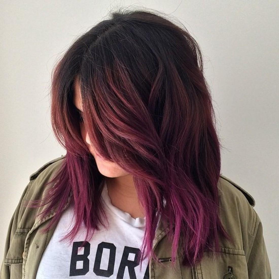 Волосы бургунди