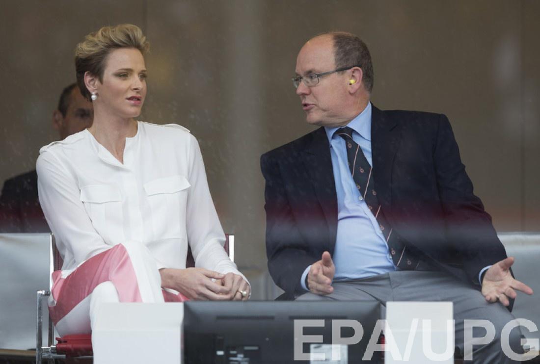 Княгиня Монако Шарлен и князь Альбер